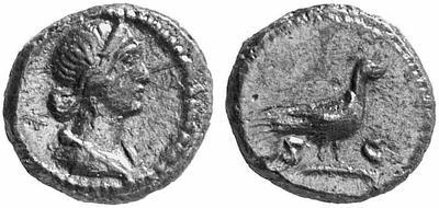 Cuadrante anónimo acuñado entre Domiciano a Antonino Pío. S C. Paloma? 122407.m