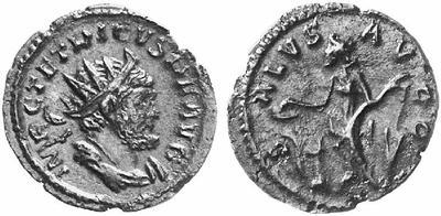 Antoniniano de Tétrico I. SALVS AVGG. Trier 106628.m