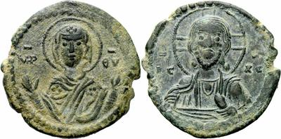 Follis anónimo atribuido a Romano IV. Constantinopla 1055832.m
