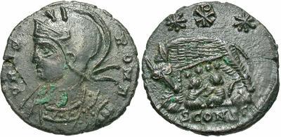 AE4 Conmemorativa de Roma. VRBS ROMA. Arlés 3710359.m