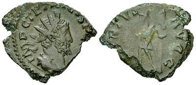 Antoniniano de imitación bárbara de Tétrico I, tipo VIRTVS con Virtus estante a izq. 3106995.m