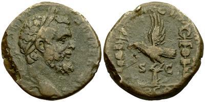 Sestercio de Septimio Severo. LEG XIIII GEM M V / TR P COS. Roma 3582337.m