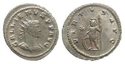 Antoniniano de Galieno. VIRTVS AVG. Antioquía 2413973.m