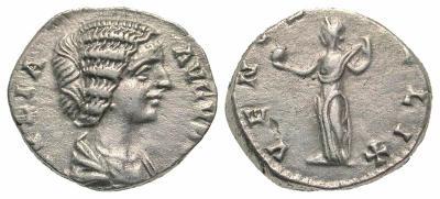 Denario de Julia Domna. VENVS FELIX. Venus estante a izq. Ceca Roma. 2686204.m