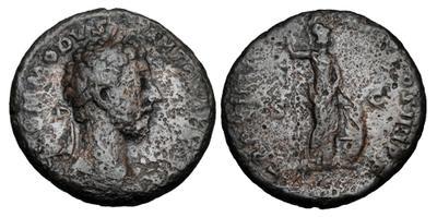 As de Cómodo. P M TR P VIII(I) IMP VI COS IIII P P /S C. Minerva 2997322.m
