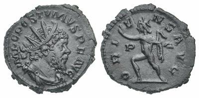 Antoniniano híbrido de Claudio II. ORIENS AVG. Sol 3136454.m
