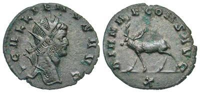 Antoniniano de Galieno. DIANAE CONS AVG. Roma 3161798.m