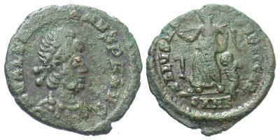 AE4 de Valentiniano II. SALVS REI PVBLICAE 4001584.m
