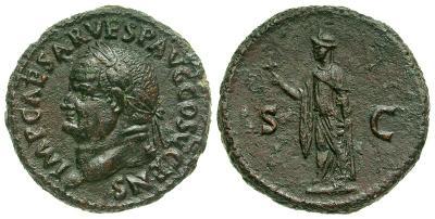 As de Vespasiano. S C. Spes a izq. Roma. 4055571.m