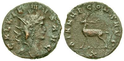 Antoniniano de Galieno. DIANAE CONS AVG. Roma 4557853.m