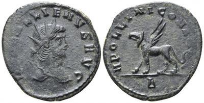Antoniniano de Galieno. DIANAE CONS AVG. ¿Gacela? a izq. Roma 3520731.m