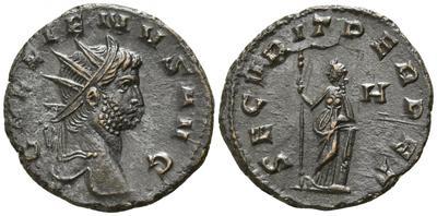 Antoniniano de Galieno. SECVRIT PERPET. Roma 3684608.m