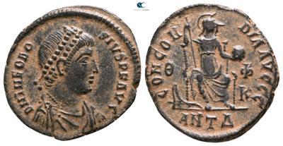 AE3 de Teodosio I. CONCORDIA AVGGG. Antioquía 4801546.m