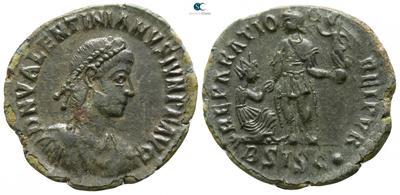 AE2 de Valentiniano II. REPARATIO REIPVB. Siscia 5063784.m
