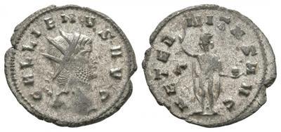 Antoniniano de Galieno. AETERNITAS AVG. Sol a izq. Roma 6032720.m