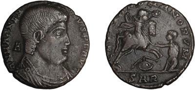 AE2 de Magnencio. GLORIA ROMANORVM. Arlés 5497271.m