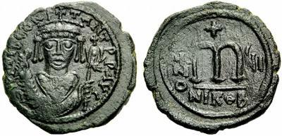 Follis de Tibère II Constantin, atelier Nicomède ... 1083684.m