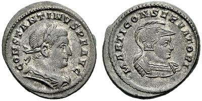 Nummus de Constantino I. MARTI CONSERVATORI. Trier (?) 1453478.m