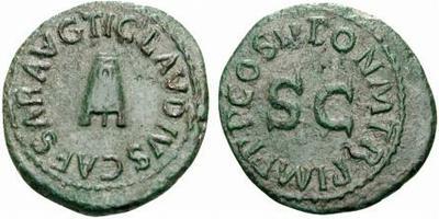 Cuadrante de Claudio I. Tipo modio 172536.m
