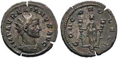 Antoniniano de Aureliano. CONCORD LEGI. Milán 4822740.m