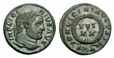 AE3 de Licinio I. DN LICINI AVGVSTI / VOT XX 317520.m