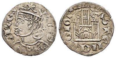 Dinero coronado o cornado de Alfonso XI. 6957341.m