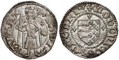 Denario de Luis I de Hungría. 5311840.m