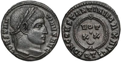 AE3 de Constantino I. DN CONSTANTINI MAX AVG / VOT XX. Ticino 6729231.m
