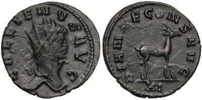 Antoniniano de Galieno. DIANAE CONS AVG. Roma  7368877.m