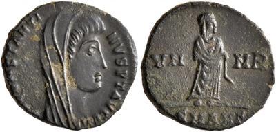 AE4 póstumo de Constantino I. VN - MR. Constantino velado. 5556791.m