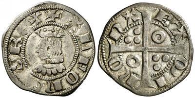 Dinero de Alfonso IV de Aragón. Barcelona 2072764.m