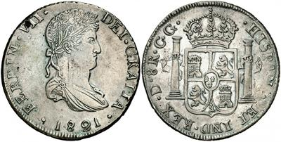 8 reales Fernando VII. Durango 1821 2190726.m