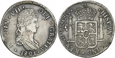 8 reales Fernando VII. Durango 1821 2425974.m