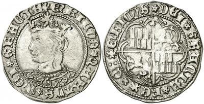 Moneda de Enrique IV año 1454-1475 1 real de plata Toledo 3185109.m