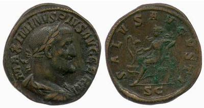 Sestercio de Maximino I el Tracio. SALVS AVGVSTI /S C 246573.m