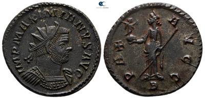 Aureliano de Maximiano Hercules. PAX AVGG. Paz a izq. Lyon 6697058.m