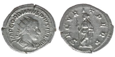 Antoniniano de Gordiano III. SECVRIT PERP. Roma 6622257.m