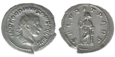 Antoniniano de Gordiano III. SECVRIT PERP. Roma 6622259.m