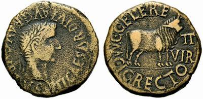 Fragmento de as de Calagurris (Tiberio) 1081305.m