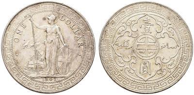 1 dólar. Colonias del Estrecho (Straits Settlements) Eduardo VII 1908. 3688804.m