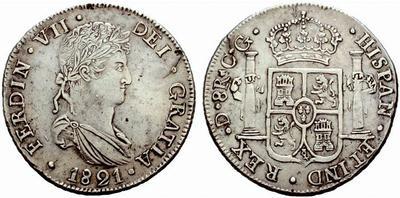 8 reales Fernando VII. Durango 1821 426815.m