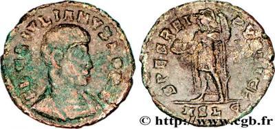 AE3/4 de Juliano II. FEL TEMP REPARATIO. Soldado romano alanceando a jinete caído. 1500892.m