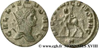 Antoniniano de Galieno. Cuadrúpedo  138474.m