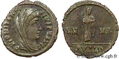 AE4 póstumo de Constantino I. Cuadriga 49628.m
