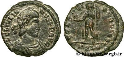 AE4 de Constancio II o Juliano II. SPES REI PVBLICE 51759.m