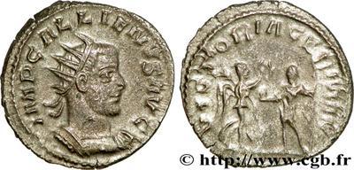 Antoniniano de Galieno. VICTORIA GERMAN. Victoria y Galieno. Antioquía 62845.m