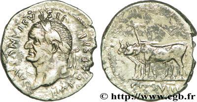 Denario de Vespasiano. COS VIII. Roma 63997.m