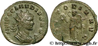Antoniniano de Claudio II. VICTORIA AVG 65106.m