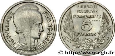5 Francos 1945. La vuelta de Lavrillier. 4116184.m