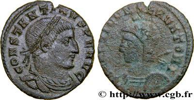 Nummus de Constantino I. MARTI CONSERVATORI. Trier (?) 4303400.m